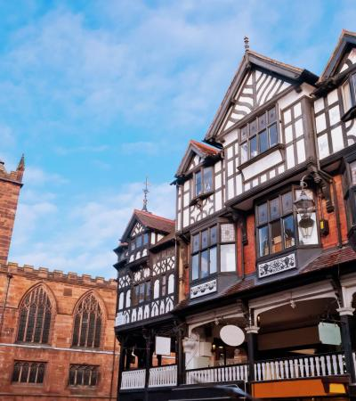 Tudor building on City Sightseeing Chester Hop On Hop Off Tour