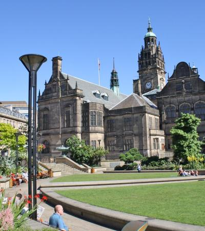 Sheffield's grand town hall on Curious About Sheffield trail