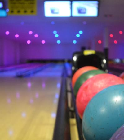 Bowling balls at Eat n Bowl in St Neots