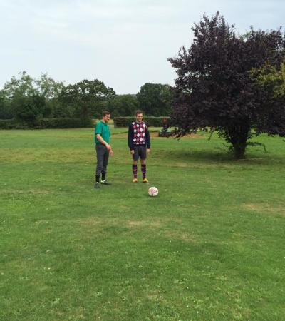 Young people at Tudor Park Footgolf in Barnet
