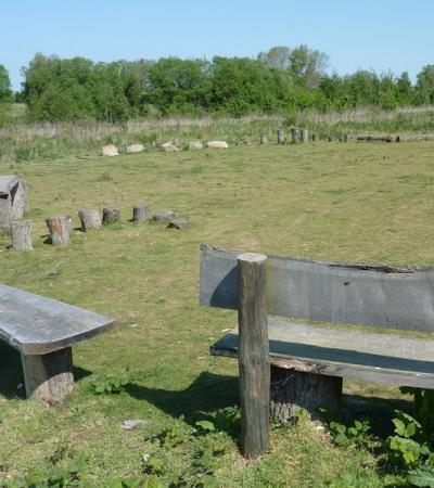 Benches at Baulk Wood in Biggleswade
