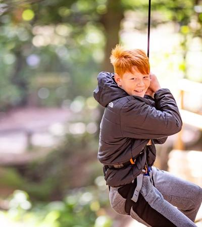 Little boy at Go Ape Coventry