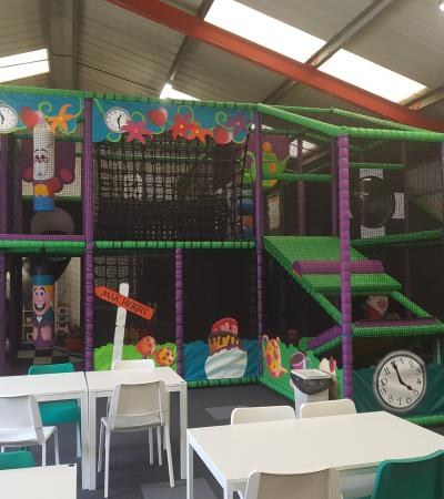 Soft play frame at Mad Hatters in Church Stretton