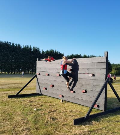 People doing obstacle course at Obstacle Training Ground in Royston
