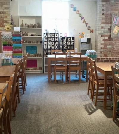 Craft area at Blue Owl in Colchester