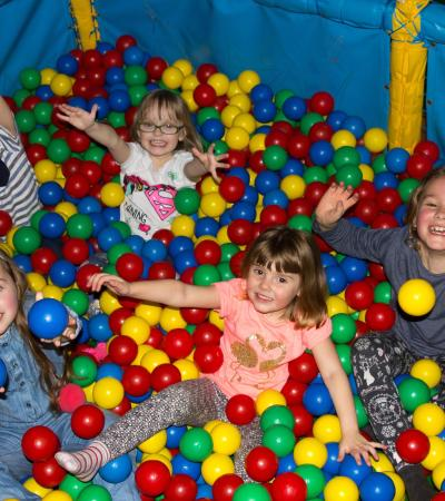 Kids in ball pit at The MegaCentre Rayleigh