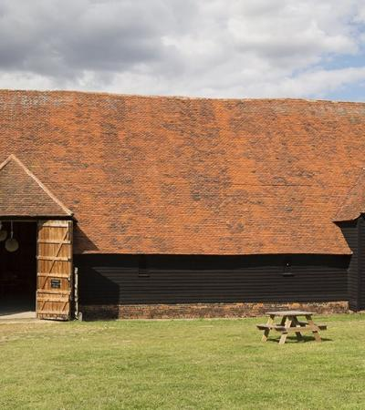 Outside view of Coggeshall Grange Barn