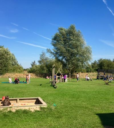 Outdoor play area at Tattershall Farm Park