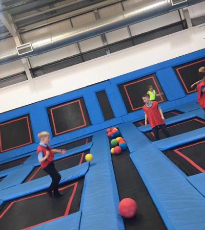 Kids playing dodgeball at Boing Zone Birmingham