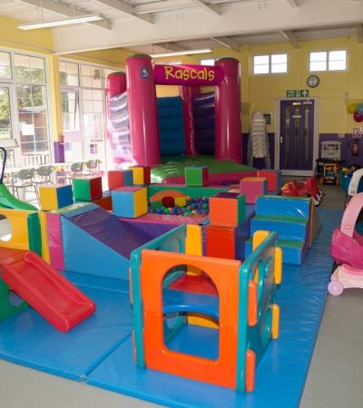 Indoor play area at Rascals Soft Play in Motspur Park