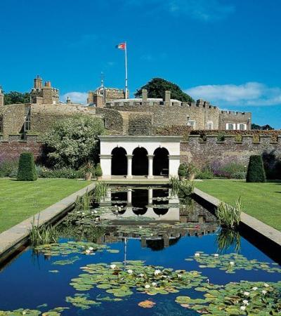 Outside view of Walmer Castle and Gardens in Deal
