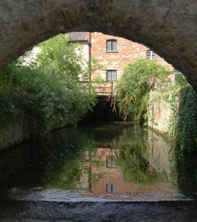 Canal at Bromham Mill in Bedford, photograph by Nigel Bryant