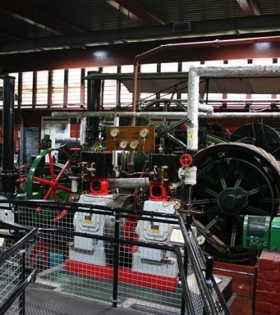Machinery exhibit at Nottingham Industrial Museum