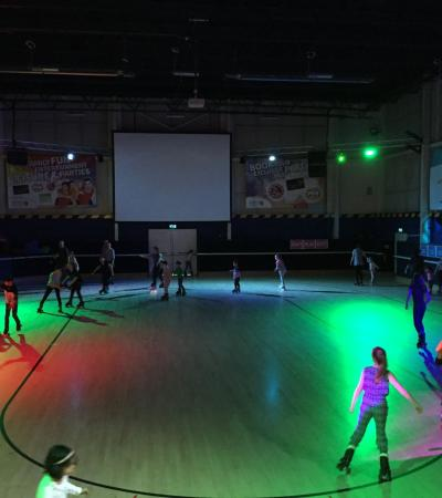 Kids in roller disco at Rollercity in Welwyn Garden City