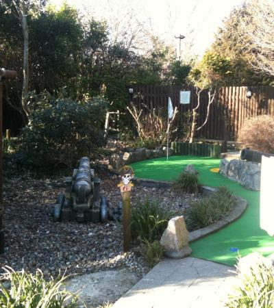 Mini golf course at Pirate Adventure Golf in Weymouth