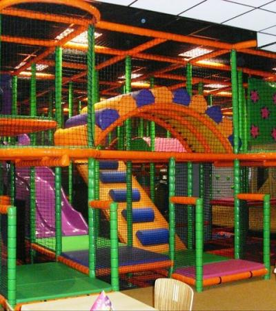 Soft play area at Play Cafe in Torquay