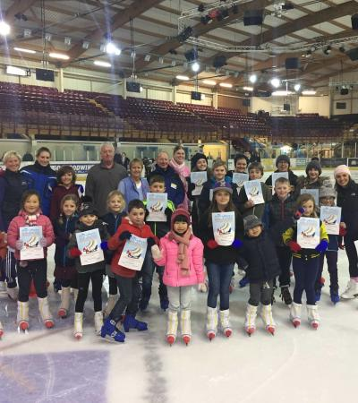 Ice skaters at Silver Blades Ice Rink Altrincham