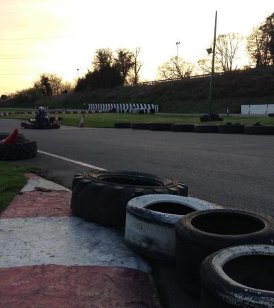 Go karts at Surbiton Raceway in Worcester Park