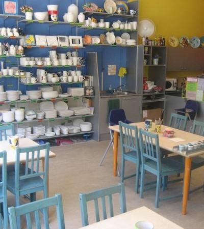 Studio and crafts at Ceramics Cafe West Ealing