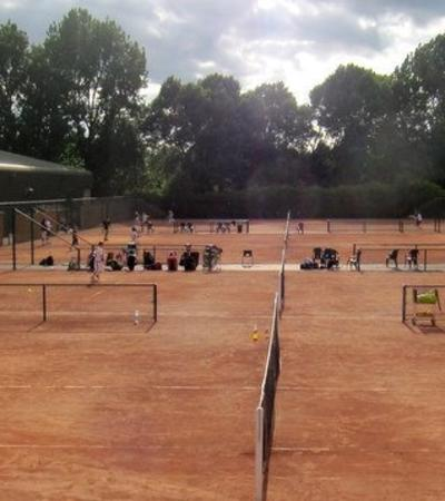 Tennis courts at Sutton Tennis Academy