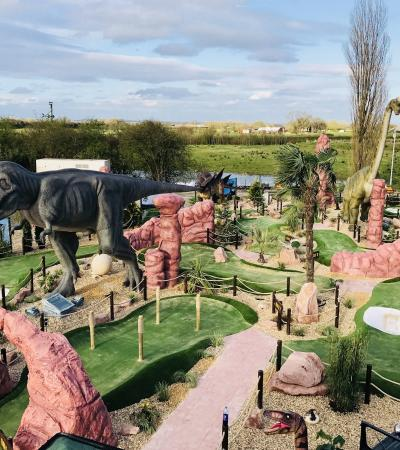 Golf course at Jurassic Cove Adventure Golf in Warrington