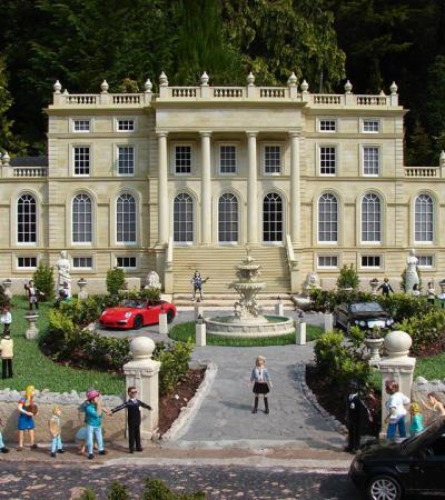 Model house at Babbacombe Model Village in Torquay