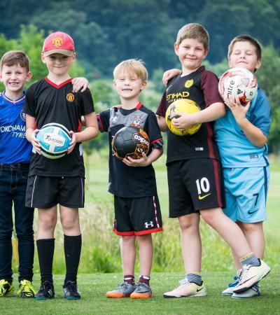 Boys at Footgolf at Basset Down Golf Complex at Swindon
