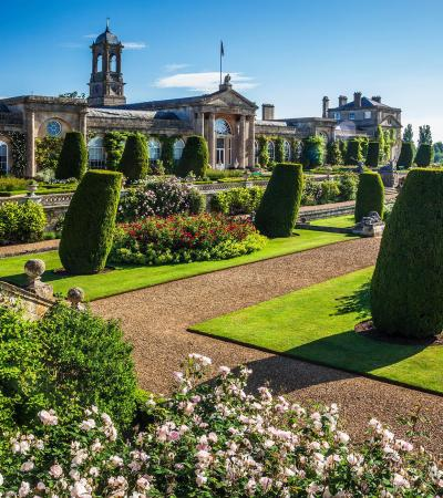 Walking paths at Bowood House & Gardens in Calne