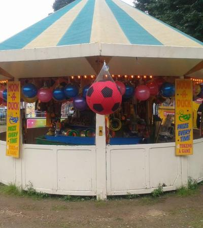Game stand at Sherwood Forest Fun Park in Edwinstowe