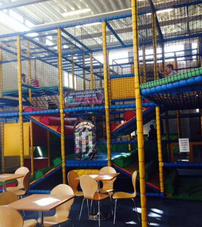 Indoor soft play frame at Futures Fun Factory in Luton