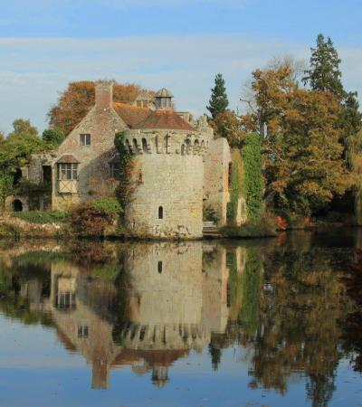 Outside view of Scotney Castle in Tunbridge Wells