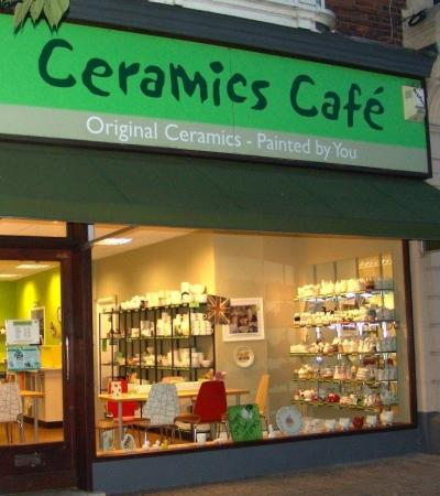 Outside view of Ceramics Cafe Dover