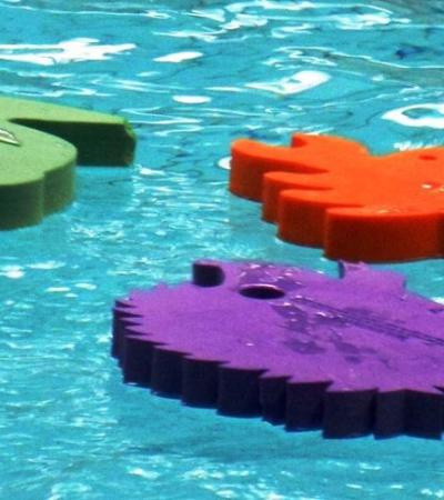 Foam pads on water at Splash Leisure Pool in Stockton-on-Tees