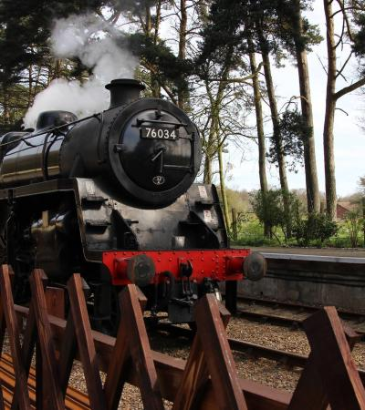 Steam train at The Poppy Line - North Norfolk Railway in Sheringham