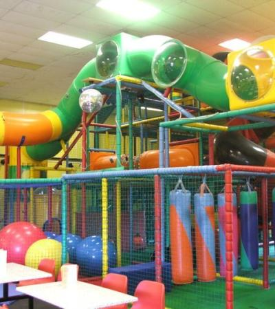 Indoor soft play frame at Robbie Rascal Party and Play Centre in Clacton on Sea