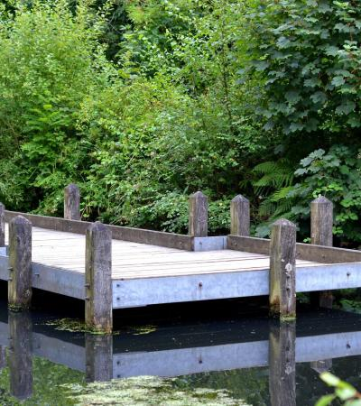 Dock at Etherow Country Park in Stockport