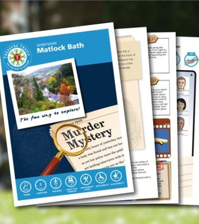 Map and booklet for Matlock Bath Treasure Trail