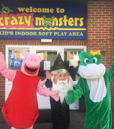 Peppa Pig, Wizard and Crocodile at Crazy Monsters in Blandford