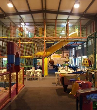 Indoor soft play frame at Fun Drum in Gillingham