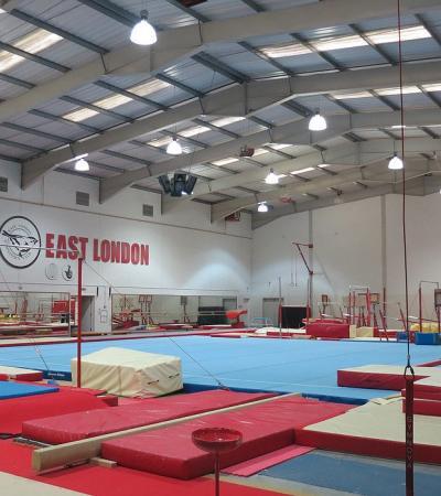 Gym area at East London Gymnastics Club in Beckton