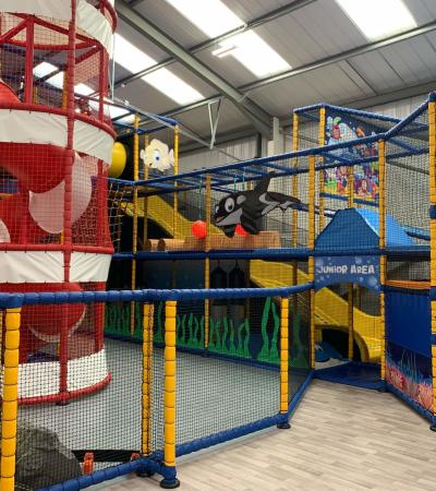 Part of the soft play at Ocean Adventures