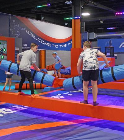 Kids playing at Freestyle Trampoline Parks in Kirkby In Ashfield