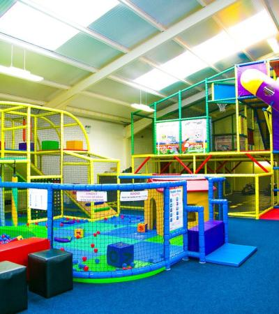 Indoor soft play frame at Fun Valley in Leicester