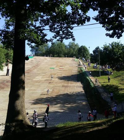 Dry ski slope at Brentwood Park Ski and Snowboard Centre