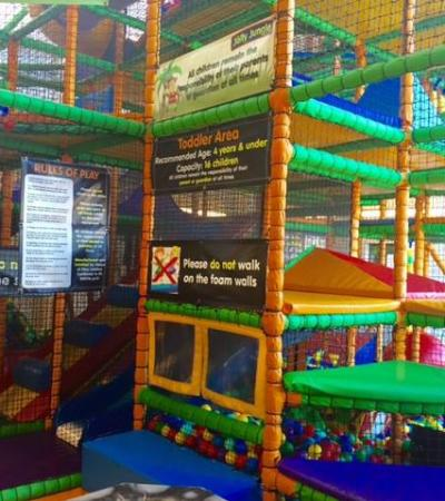 Indoor soft play frame at Becontree Heath Leisure Centre in Dagenham