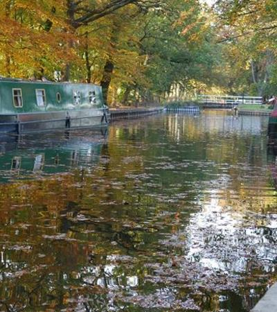 Canal at Basingstoke Canal Visitor Centre in Mytchett