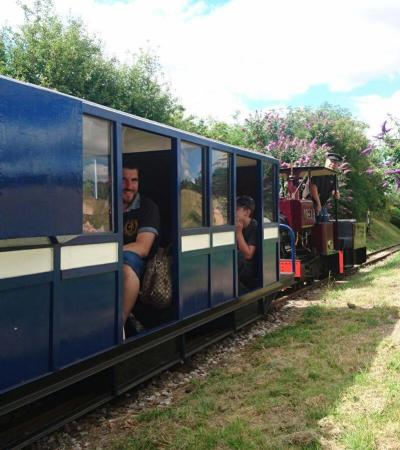Carriage train at Sherwood Forest Railway in Edwinstowe