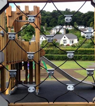 Adventure playground at Bicclescombe Park in Ilfracombe