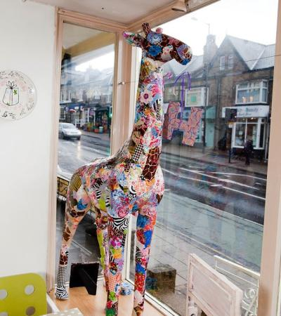 Giraffe craft at Fired Arts Craft Cafe in Sheffield