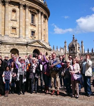 Visitors on Oxbridge Tours in Cambridge